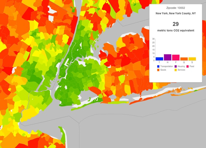 color-coded map of the NYC metro area