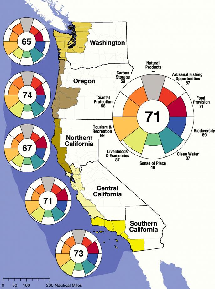 Ocean Health Index Assesses US West Coast States University Of - Map of us west coast states