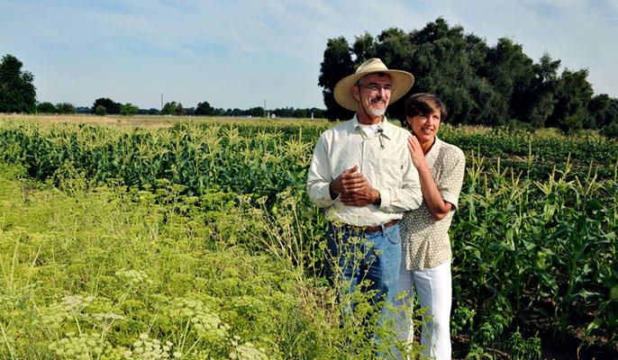 Pam Ronald and husband Raoul Adamchak
