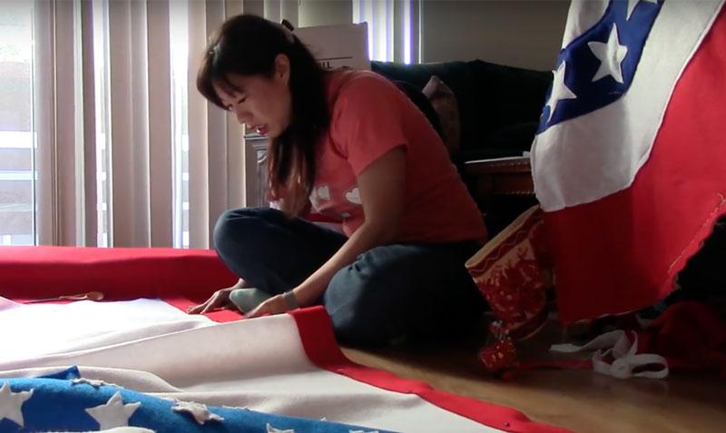 Kristina Wong sewing