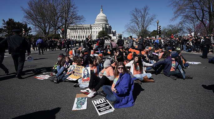 March 5, 2018 demonstration for immigrants Alex Wong/Getty Images photo