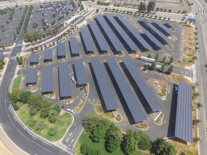 UC Riverside aerial solar panels