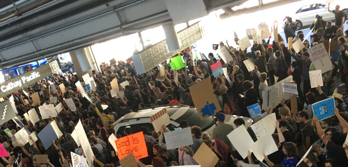 airport protests LAX