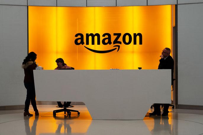 Front desk of Amazon headquarters