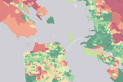 Bay Area Carbon Emissions Map