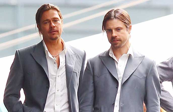 Brad Pitt and stunt double
