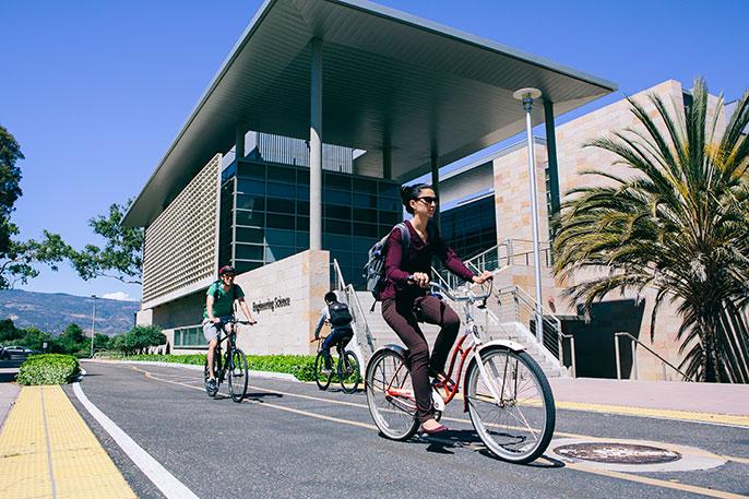 UC Santa Barbara bikes sustainability