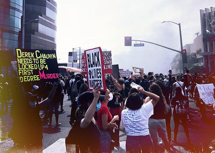 Black Lives Matter protest in LA