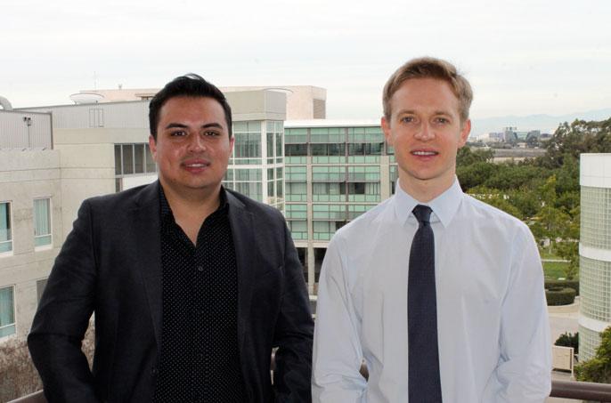 First author Christian Guerrero-Juarez and Maksim Plikus, associate professor in developmental and cell biology.