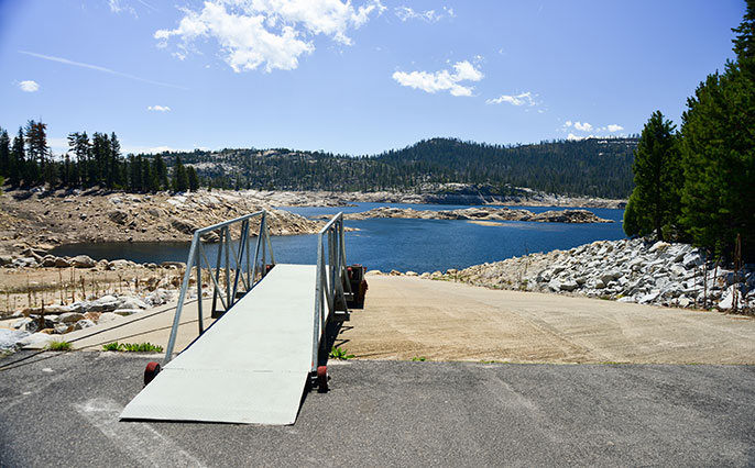 boat ramp at shallow lake (iStock)