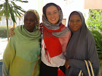 Anna and two women in Niger