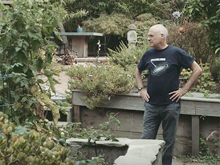 Mark Bittman in garden