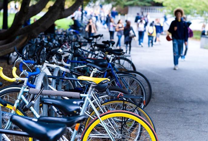 bikes on campus