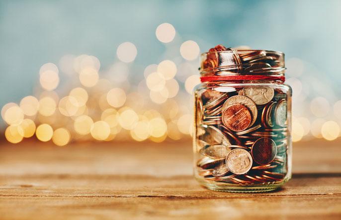 Holiday donation jar