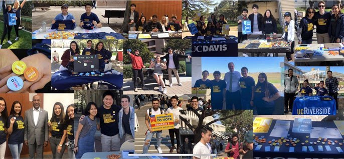 UC student ambassador collage