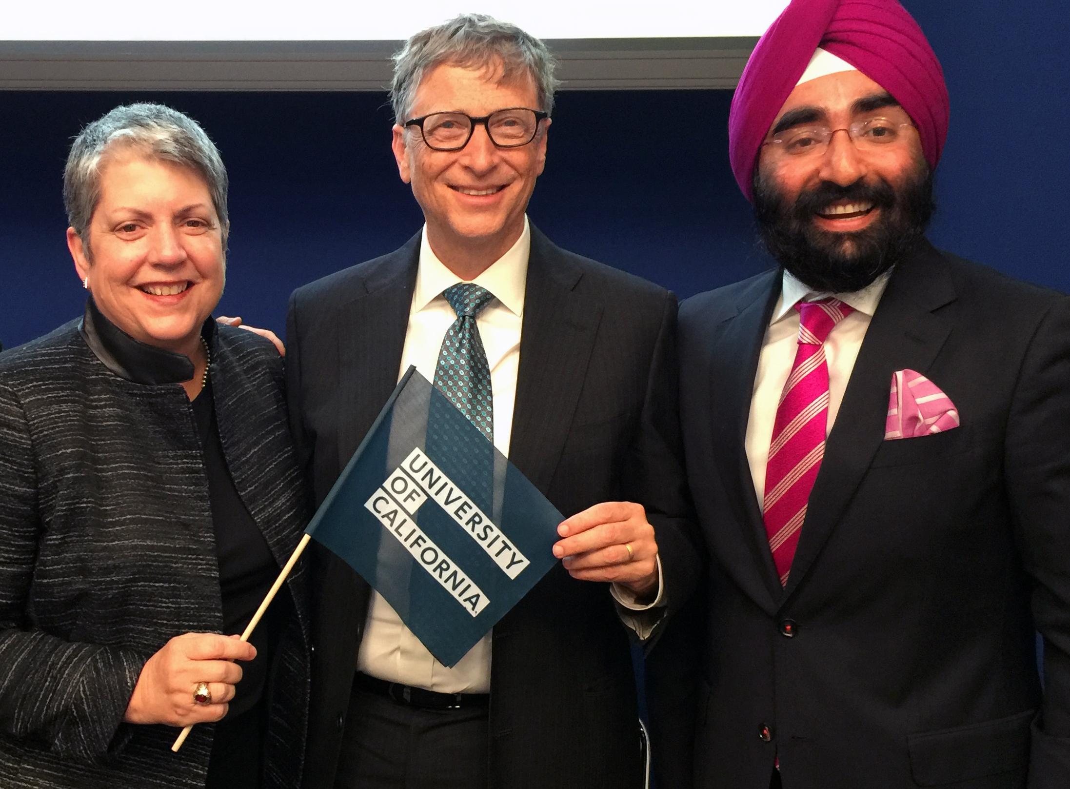 Janet Napolitano, Bill Gates and Jagdeep Singh  Bachher