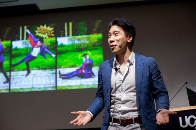 David Wu presents on concussion at the 2019 UCSF Grad Slam