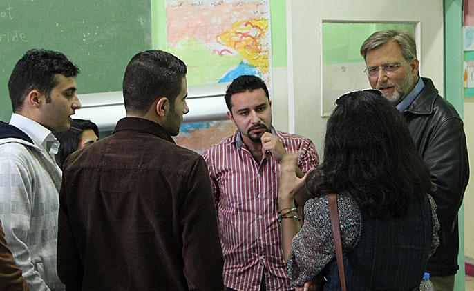 Keith Watenpaugh and Kurdish students
