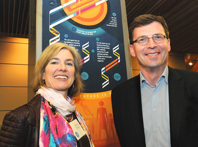 Jennifer Doudna and Lorenz Mayr