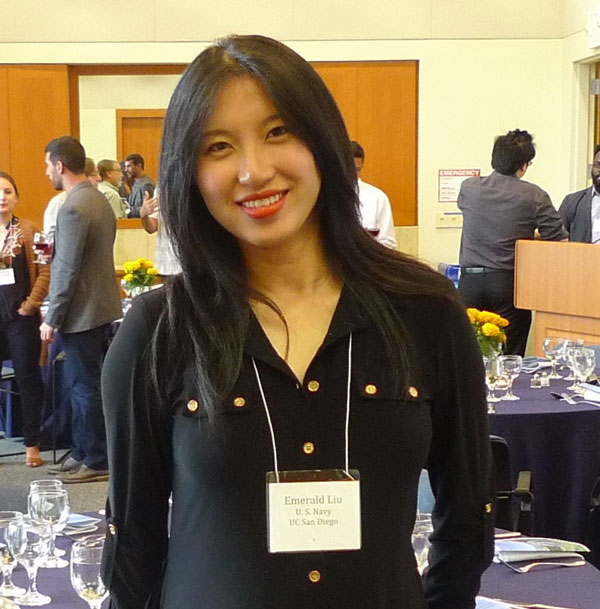 Emerald Liu portrait at a conference