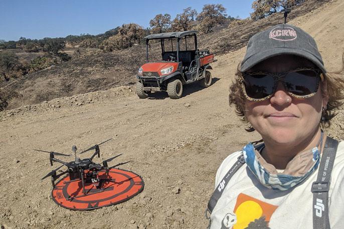 Becca Fenwick at the Blue Oak Ranch Reserve