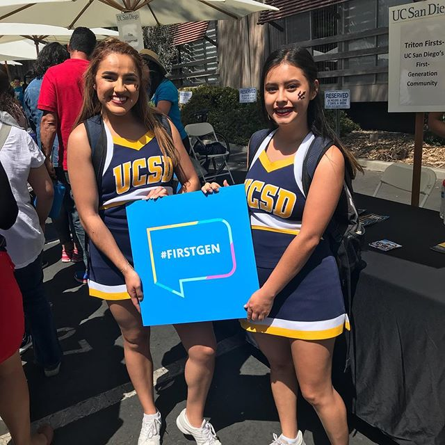 Instagram from @ucsd_successcoaching: Congrats to Fernanda and Carla- they're first generation and graduating this year! @ucsdcheer #firstgenucsd #tritonday #triton2022