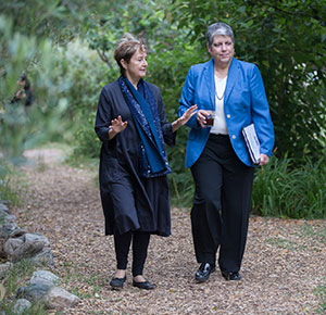 Alice Waters and Janet Napolitano