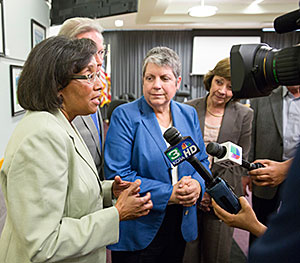 Helene Dillard, Janet Napolitano, Karen Ross
