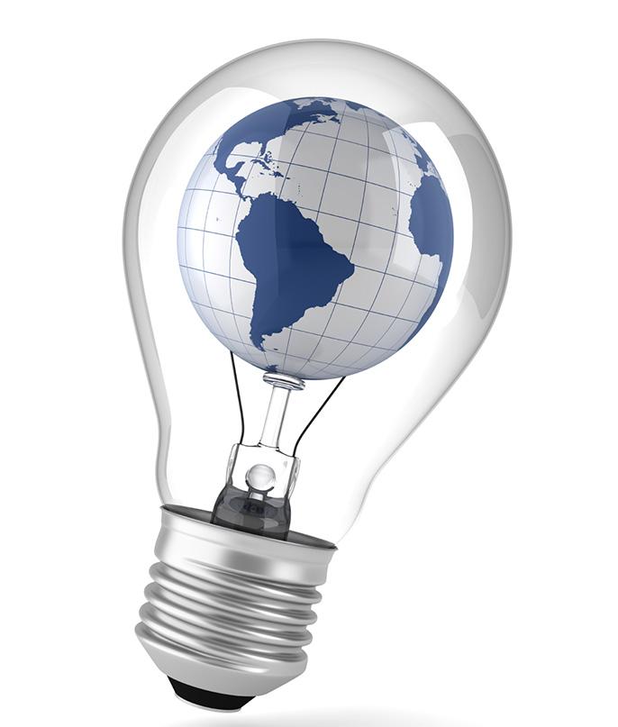 globe in bulb (iStock)