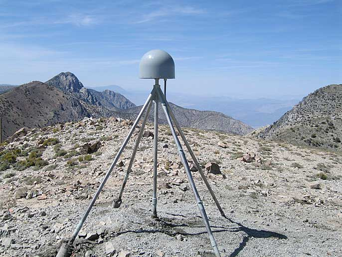 GPS station, Inyo Mountains