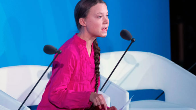 Greta Thunberg at the United Nations
