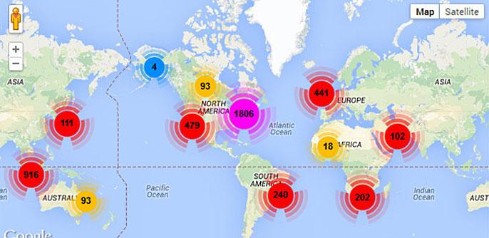 Twitter map, Health Social Analytics