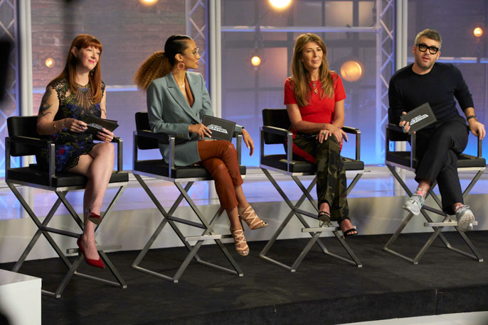 Robin Hunicke on the Project Runway judges panel