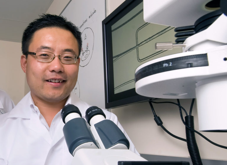 UC Irvine professor in lab