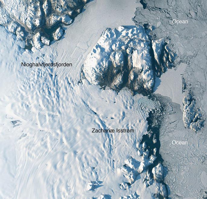 Zachariae Isstrom glacier