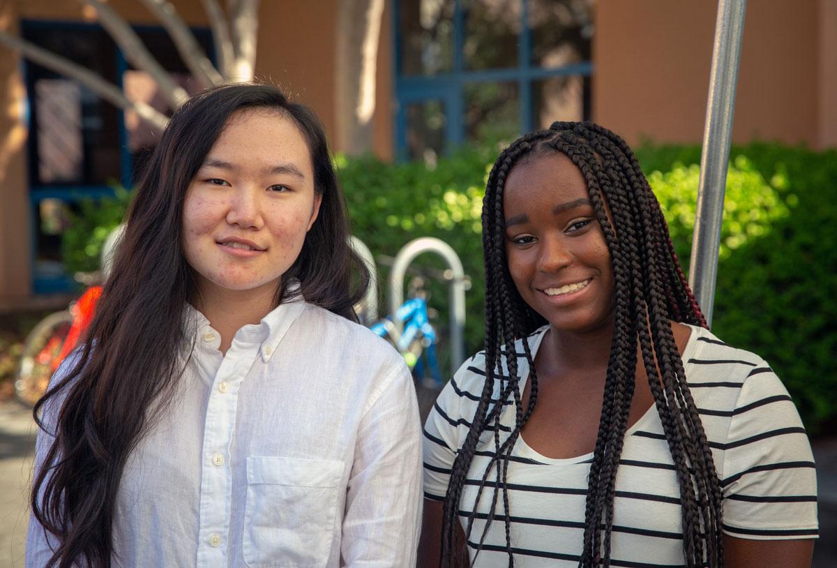 Jiayin and Ariyana standing together