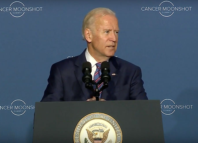 Vice President Joe Biden made the opening and closing remarks at Wednesday's White House Cancer Moonshot Summit.