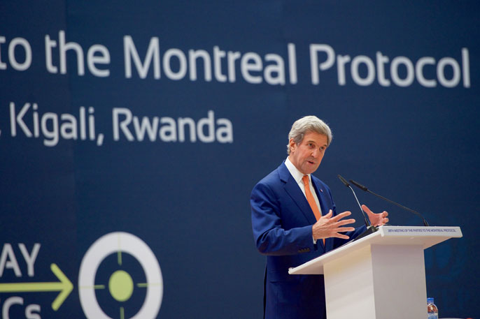 Secretary of State John Kerry in Kigali