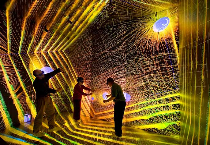 Los Alamos CAVE virtual environment