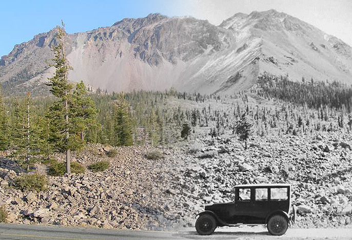 Mt. Lassen before and after