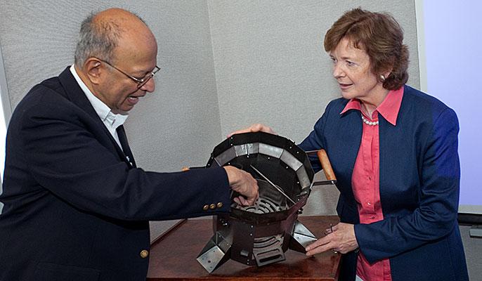 Ashok Gadgil and Mary Robinson