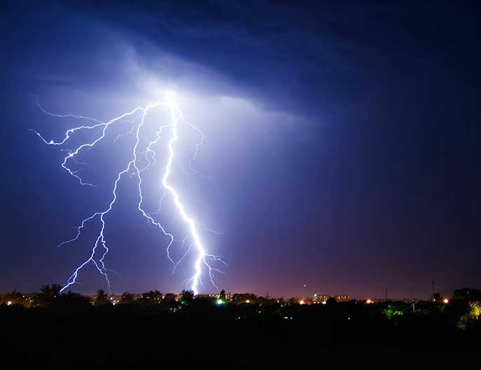 More Lightning With Global Warming University Of California