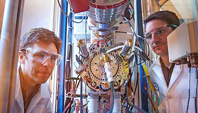 Ted Ognibene, Mike Malfatti and biological AMS instrument