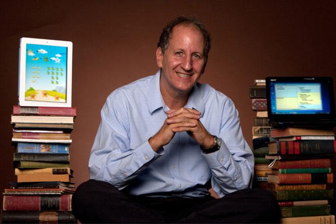 Mark Warschauer in a classroom setting