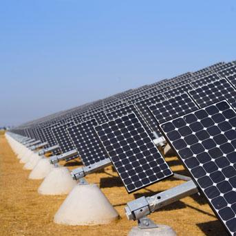 Solar panels at UC Merced