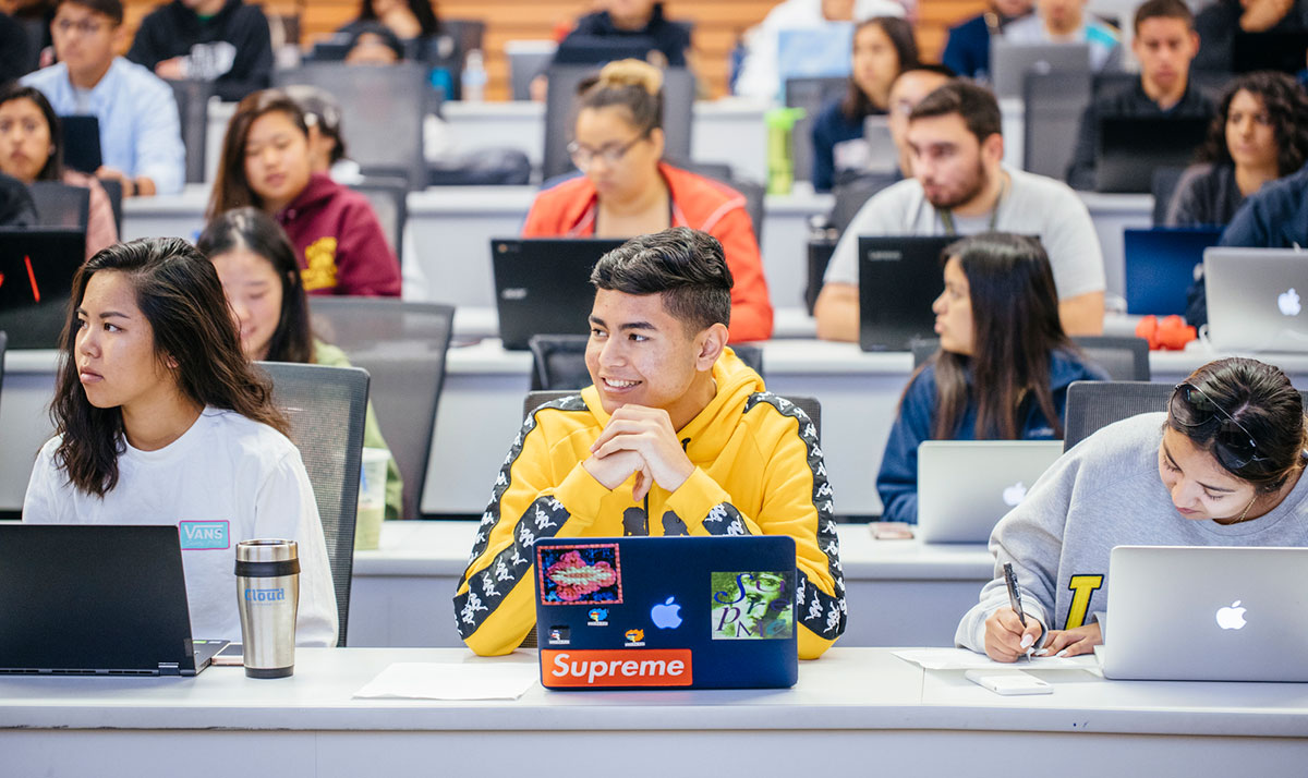 Students in a class at UC Merced