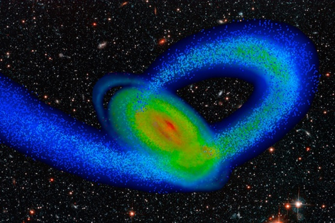 computer model of the Milky Way