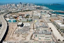 aerial view of the mission bay campus