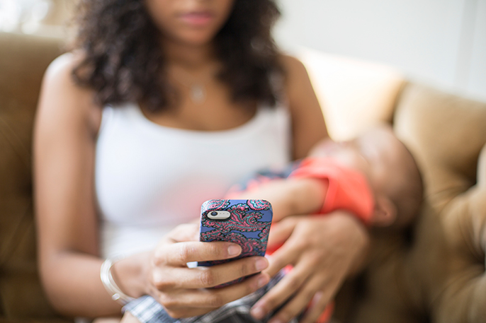 put the cellphone away  fragmented baby care can affect