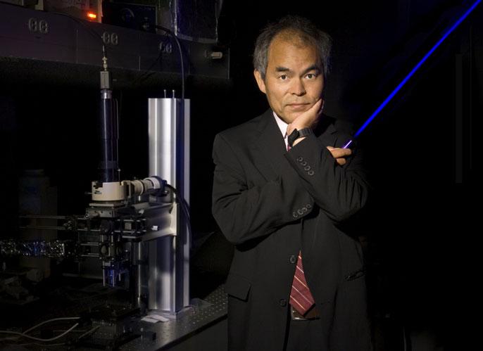 Nakamura portrait with LEDs
